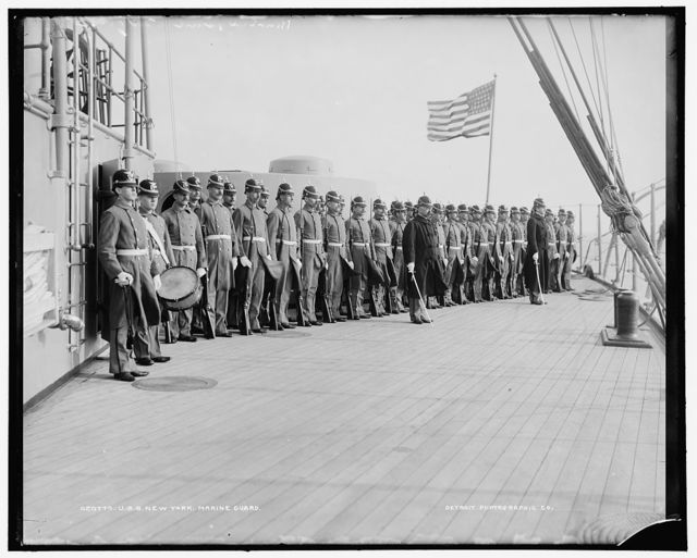 U.S.S. New York, marine guard