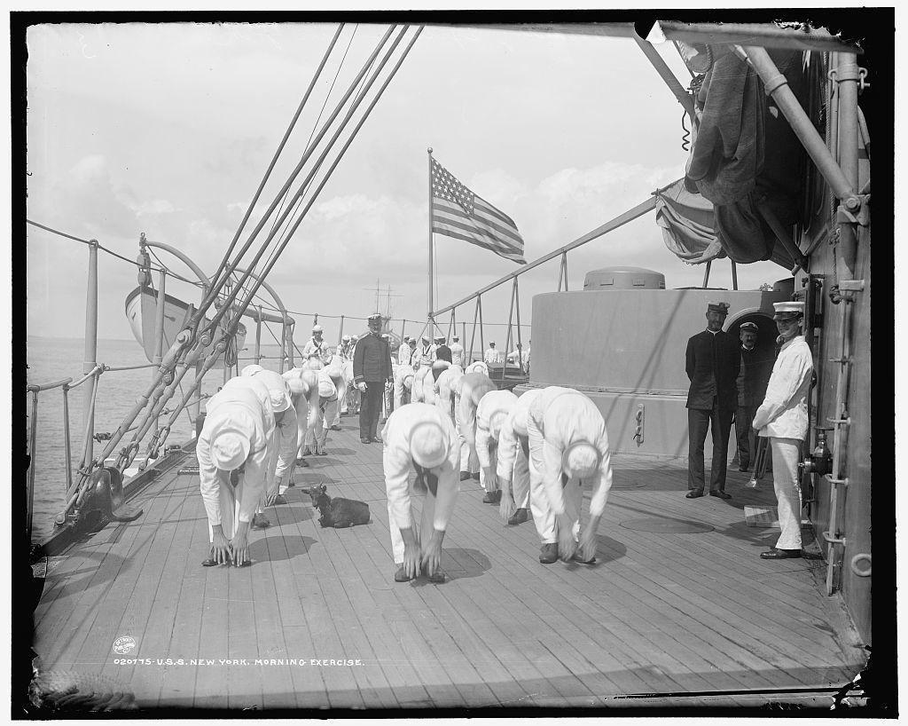 U.S.S. New York, morning exercise