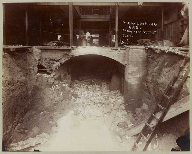 View from 1st floor looking north west, June 10th 1893, plate 3 / Brady Photo.