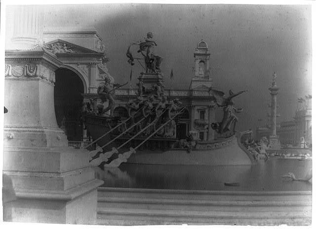 [View of the World's Columbian Exposition, Chicago, Ill. showing detail of fountain]