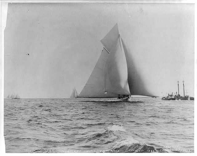 VIGILANT [sailing yacht] winning the race
