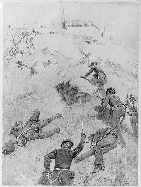 Voltigeurs and infantry - Assault of Chapultepec, 12 September 1847