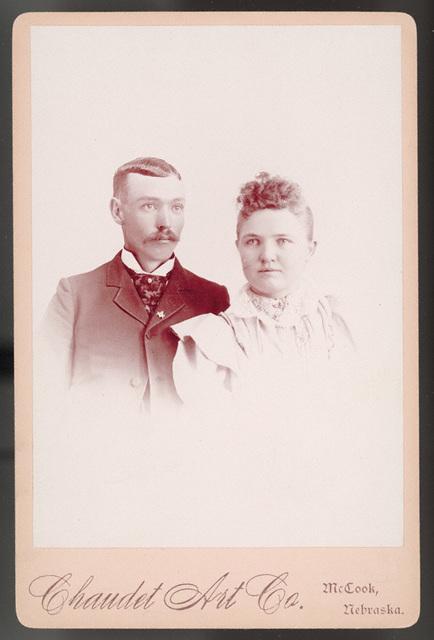 Wedding photograph of Estella Stilgebouer and Soloman H. Stilgebouer