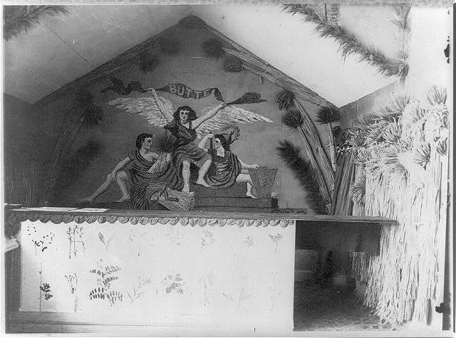[World's Columbian Exhibition, Chicago, 1893 - interiors]: allegorical mural and grain exhibit of Butte County, Calif.