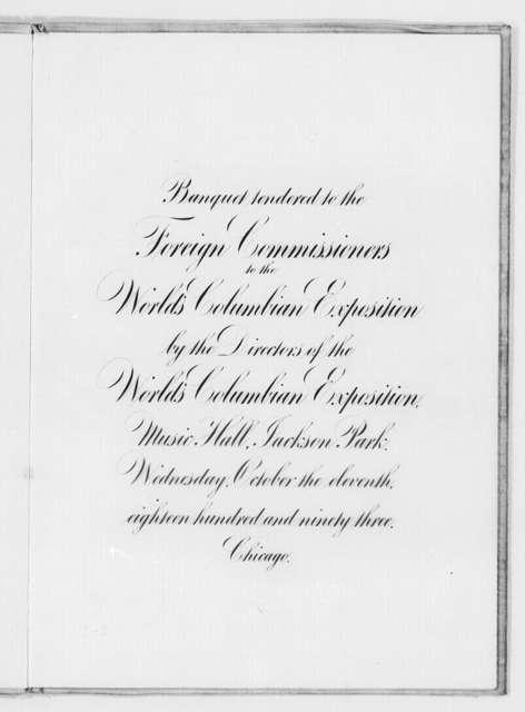 World's Columbian Exposition, Chicago, Ill., 1895