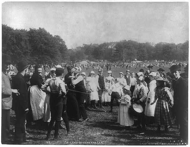 """""""A Game of Copenhagen"""" - May Parties, Central Park, New York City"""