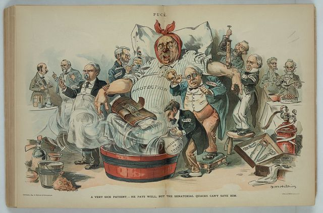 A very sick patient - he pays well, but the senaotrial quacks can't save him / F.M. Hutchins.