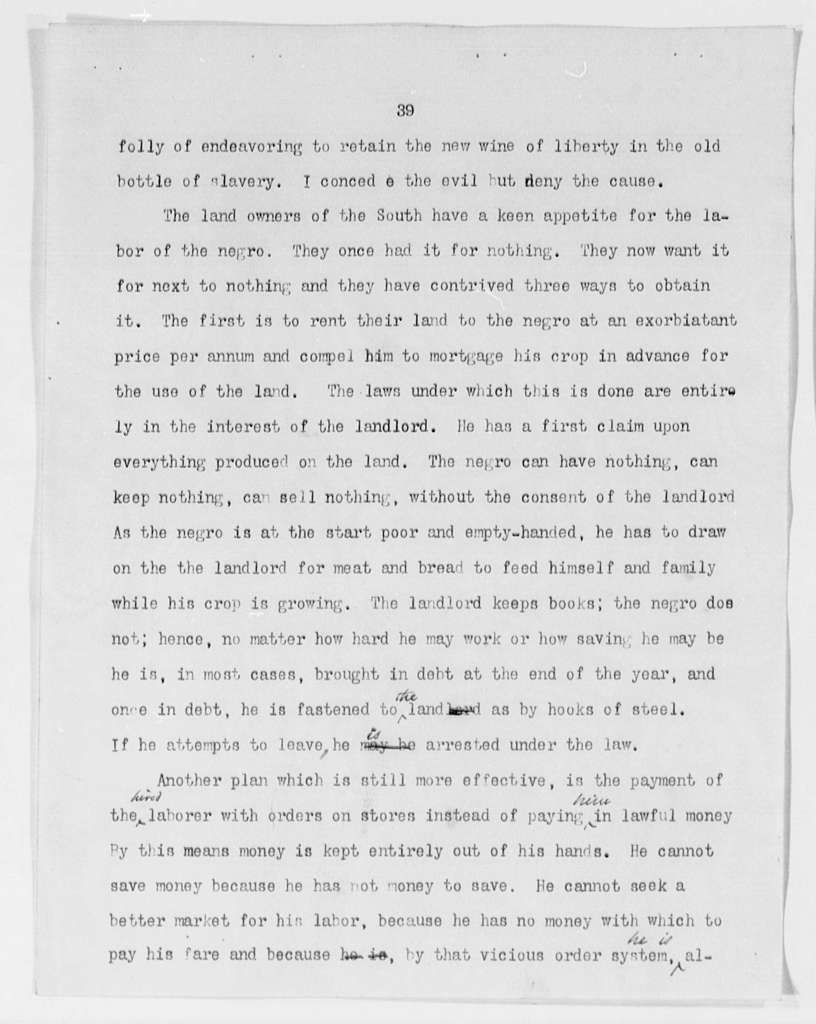Address ... January 9th, 1894, on the Lessons of the Hour - Folder 5 of 8