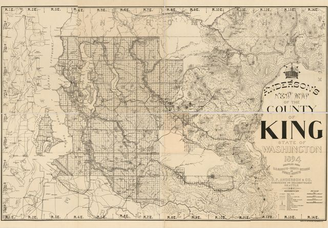 Anderson's new map of the county of King state of Washington, 1894 /