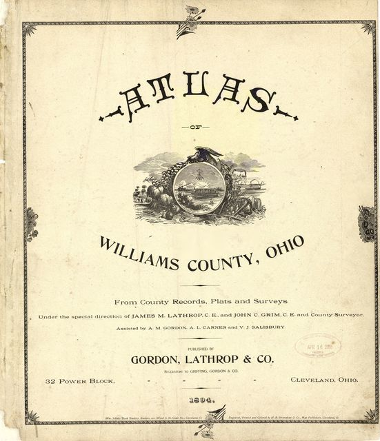 Atlas of Williams County, Ohio : from county records, plats and surveys /