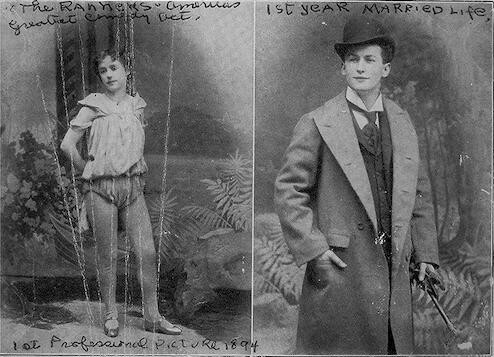 [Beatrice and Harry Houdini in their first year of married life]