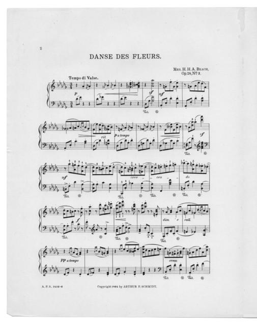 Danse des fleurs, op. 28, no. 3