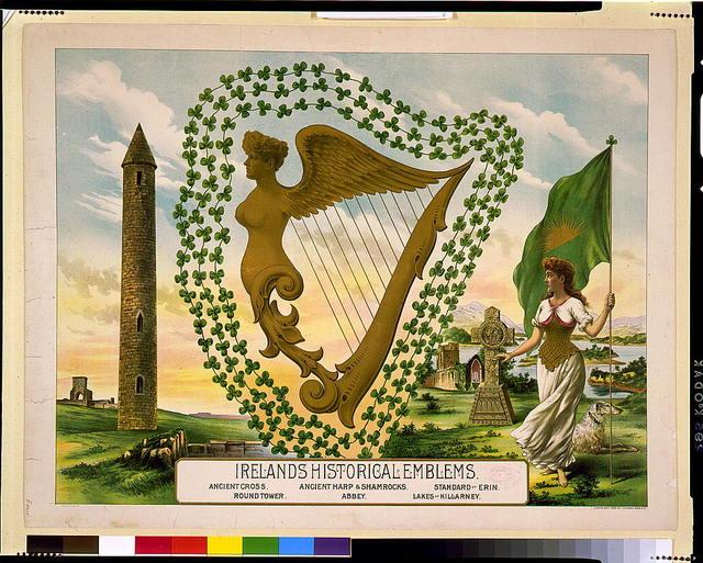 Ireland's historical emblems / Eagle Litho. Co.