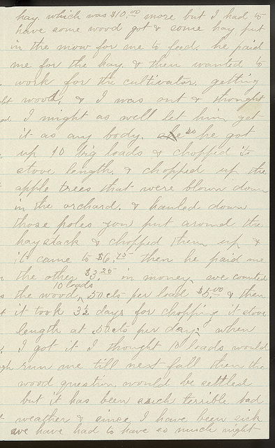 Letter from Laura I. Oblinger to Uriah W. Oblinger, February 25, 1894