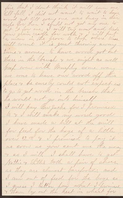 Letter from Laura I. Oblinger to Uriah W. Oblinger, February 25, 1894