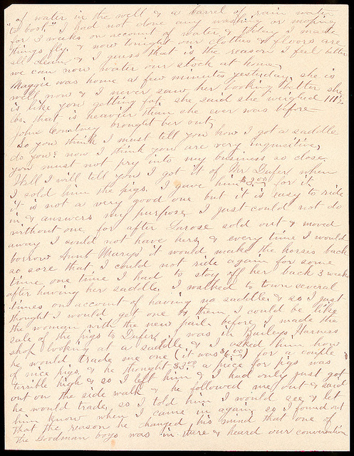 Letter from Laura I. Oblinger to Uriah W. Oblinger, January 22, 1894