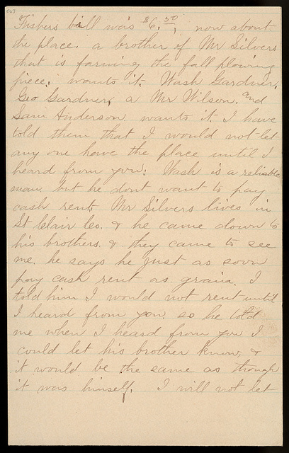Letter from Laura I. Oblinger to Uriah W. Oblinger, July 19, 1894