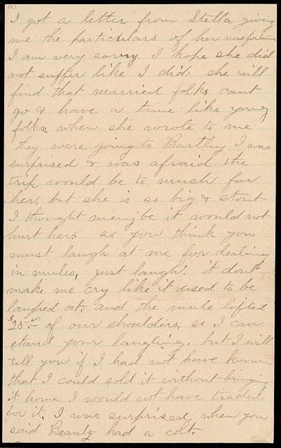 Letter from Laura I. Oblinger to Uriah W. Oblinger, July 19, 1894