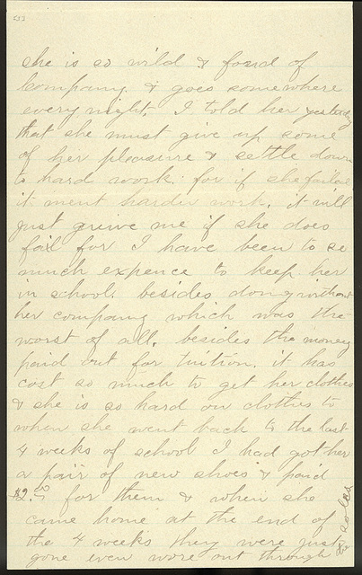Letter from Laura I. Oblinger to Uriah W. Oblinger, July 21, 1894