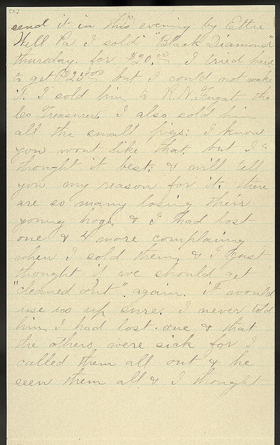 Letter from Laura I. Oblinger to Uriah W. Oblinger, July 8, 1894
