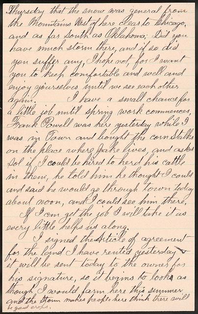 Letter from Uriah W. Oblinger to Laura I. Oblinger, Sadie Oblinger, Nettie Oblinger, Maggie Oblinger, Lillie Oblinger, February 17, 1894