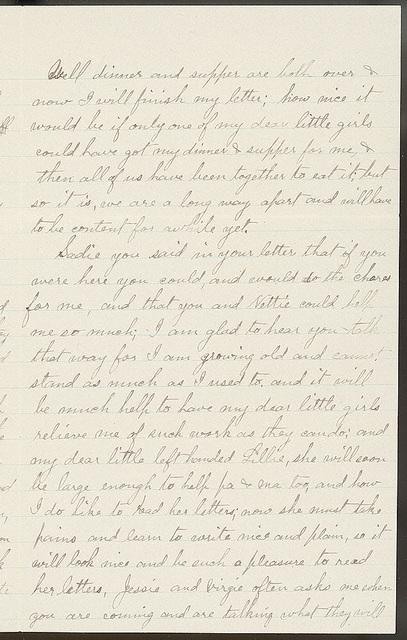 Letter from Uriah W. Oblinger to Laura I. Oblinger, Sadie Oblinger, Nettie Oblinger, Lillie Oblinger, and Maggie Oblinger, November 16, 1894