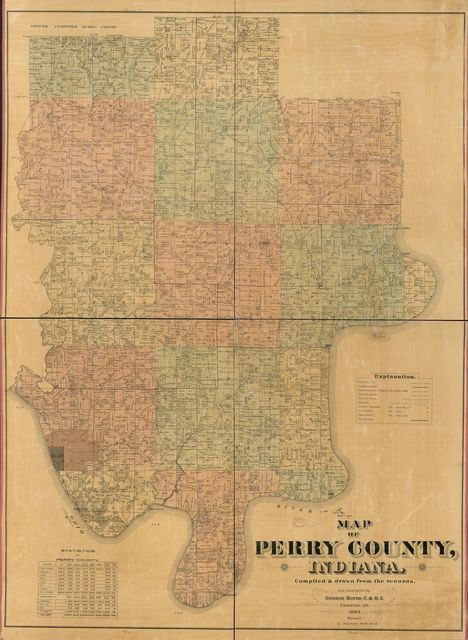 Map of Perry County, Indiana /