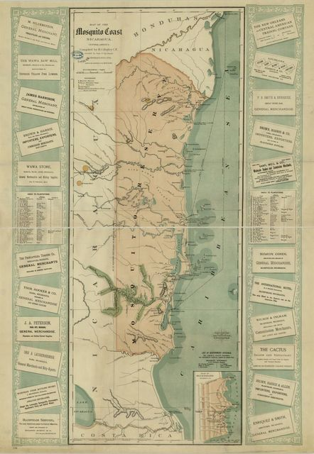 Map of the Mosquito Shore, Nicaragua, Central America /