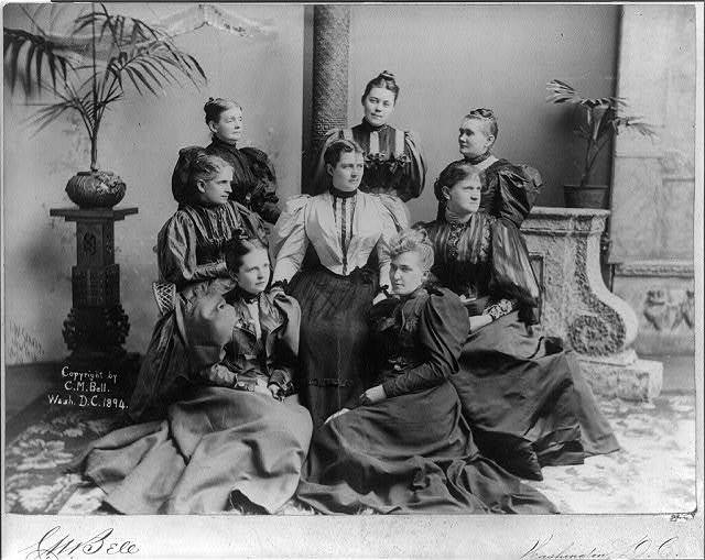 Mrs. Cleveland with ladies of the Cabinet