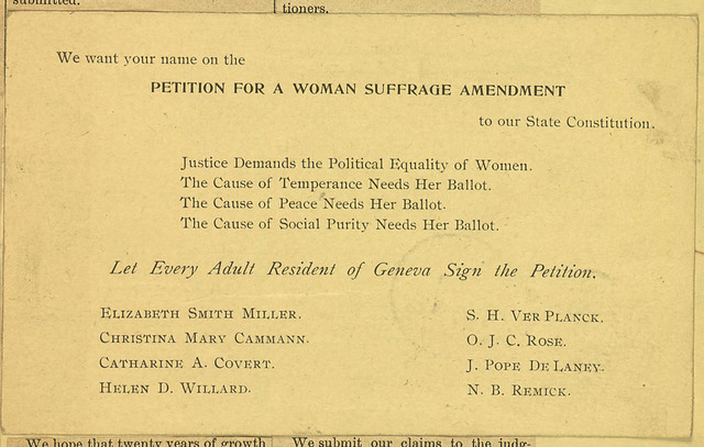 Petition for a Woman Suffrage Amendment