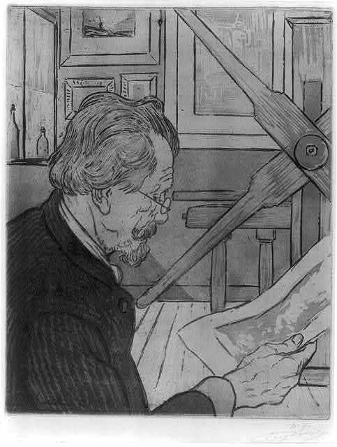 [Portrait of Auguste Delâtre, father of Eugène Delâtre] / Eugène Delâtre.