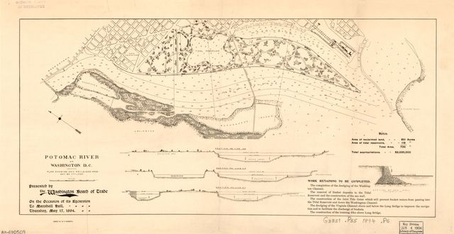 Potomac River at Washington D.C., plan showing how reclaimed area may be utilized /