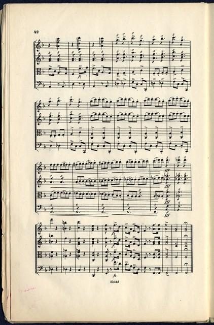 Quartett (F dur) für 2 violinen, bratsche und violoncell von Ant. Dvorak, Op. 96
