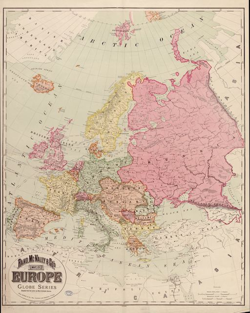 Rand, McNally & Co.'s map of Europe : compiled from the latest and most authentic sources.