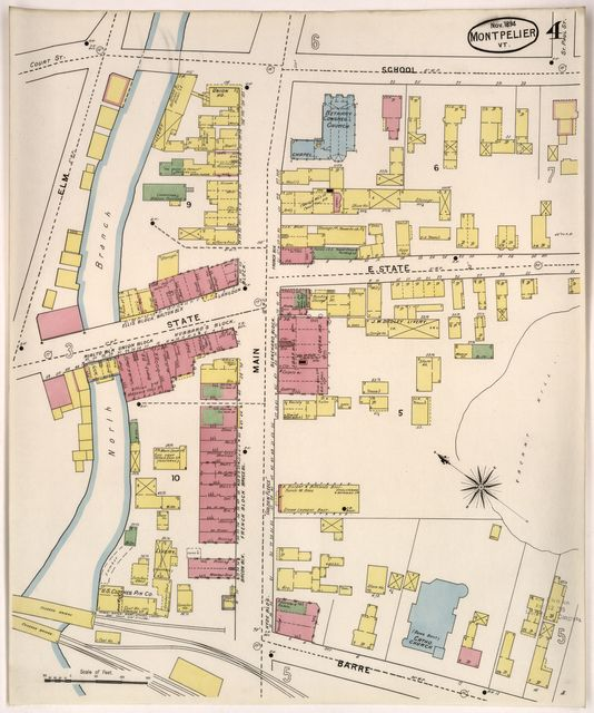 Sanborn Fire Insurance Map from Montpelier, Washington County, Vermont.