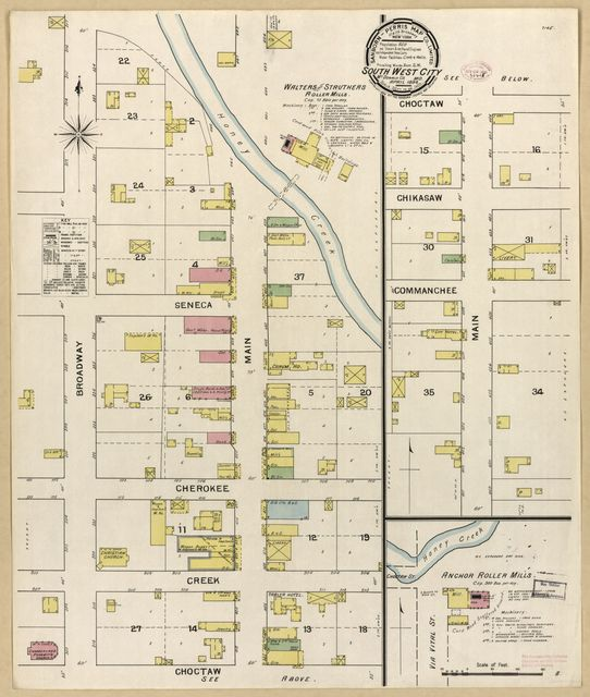 Sanborn Fire Insurance Map from Southwest City, Mcdonald County, Missouri.