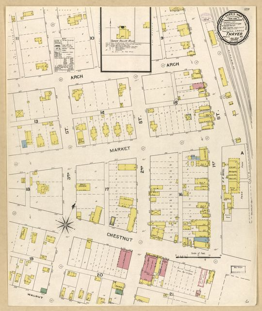Sanborn Fire Insurance Map from Thayer, Oregon County, Missouri.