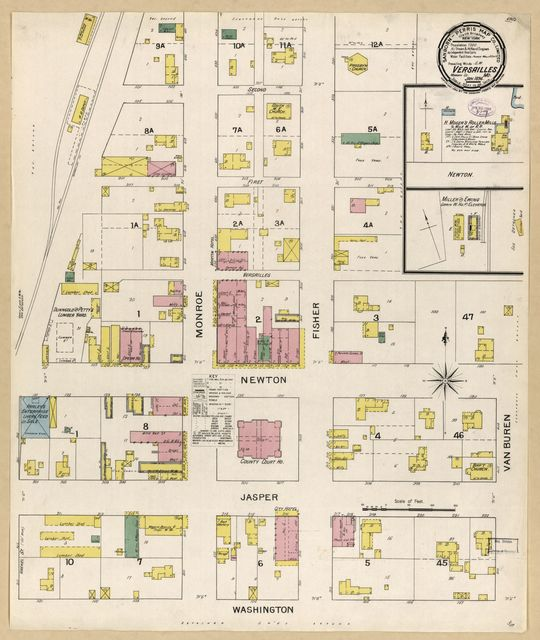Sanborn Fire Insurance Map from Versailles, Morgan County, Missouri.