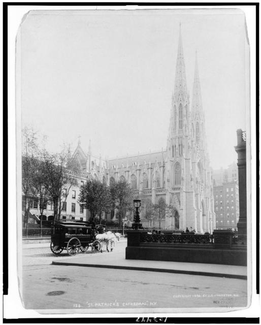 St. Patrick's Cathedral, N.Y. / J.S. Johnston, view and marine photo, N.Y.