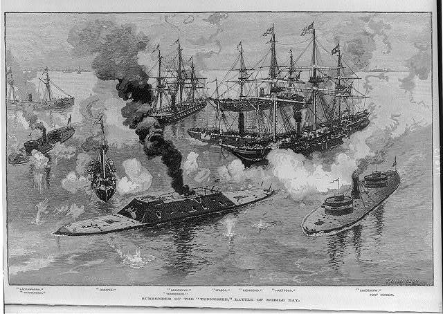 Surrender of the TENNESSEE, Battle of Mobile Bay (5 Aug. 1864)