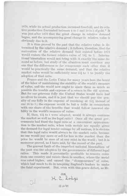 The Bimetallic ratio: a reprint from the New York press of June 12th, 1894.