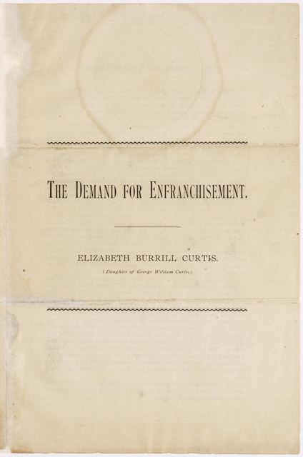 The Demand for Enfranchisement by Elizabeth Burrill Curtis