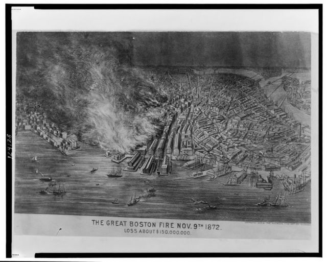 The great Boston fire Nov. 9th 1872--Loss about $150,000,000