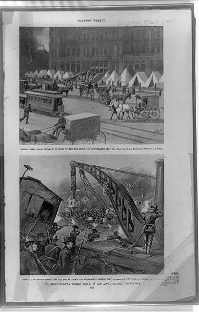 The Great railway strikes--scenes in and about Chicago