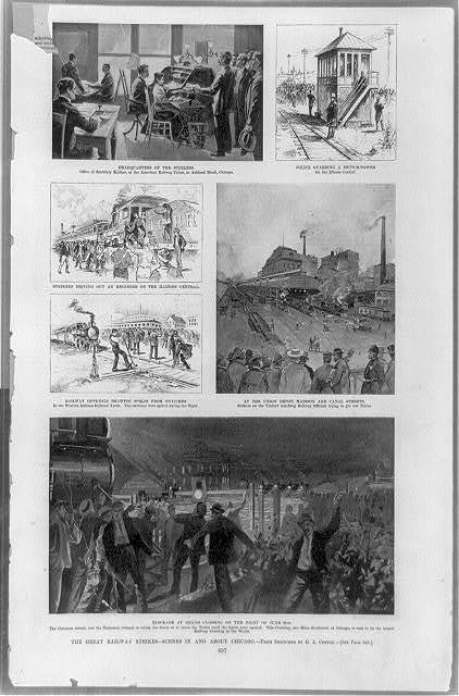The Great railway strikes--scenes in and about Chicago / from sketches by G.A. Coffin.
