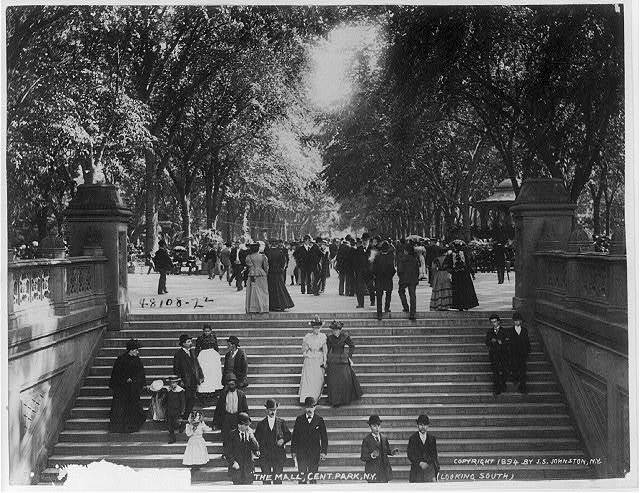 The Mall, Central Park, N.Y. (looking south)