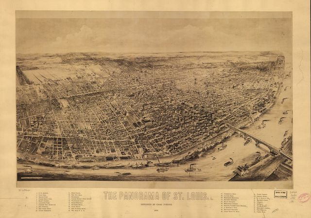 The panorama of St. Louis.
