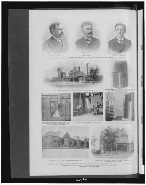 The town of Pullman, Illinois--the homes and wages of the Pullman operatives