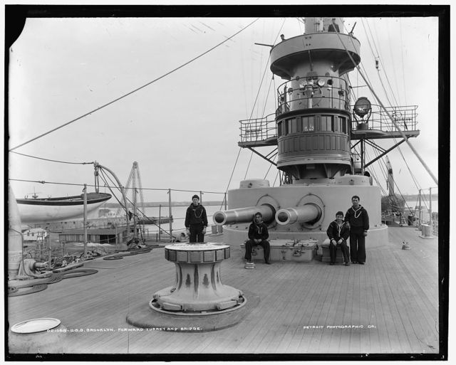 U.S.S. Brooklyn, forward turret and bridge