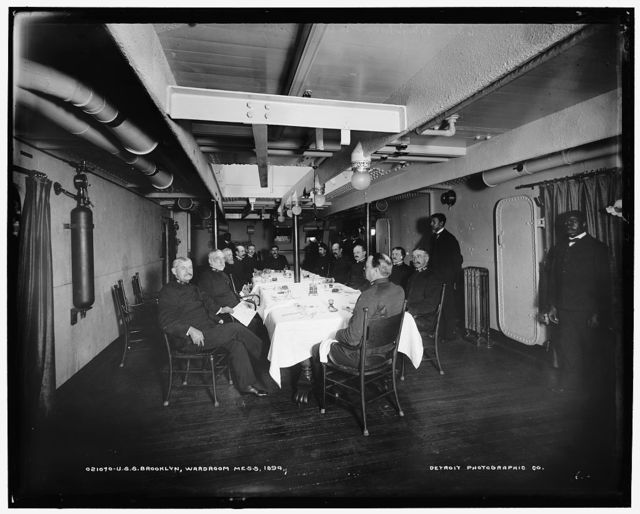 U.S.S. Brooklyn, wardroom mess